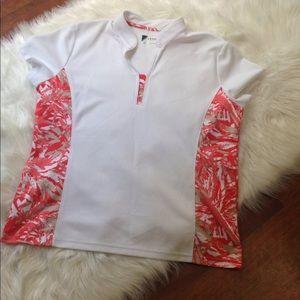 Women's Izod Golf Shirt Top Size XL